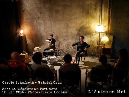 Histoires discordantes - la fabrique infinie - Carole Schafroth - Gabriel Cruz - l'autre en moi - Edgar Allan Poe - Baudelaire - poèmes - contes - étrange - grinçant - drôle 1